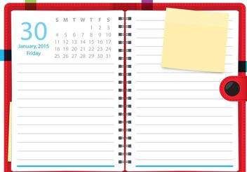 Daily Planner Vector Notebook - vector gratuit #151825
