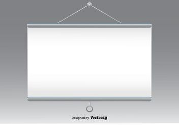 Projector Screen Vector - Free vector #151865