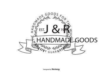 Vintage Hand Drawn Logo Template - Kostenloses vector #151975