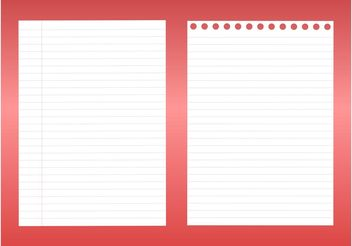 Notebook Sheets - vector gratuit #152065