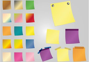 Colorful Post-It Notes - vector gratuit #152085