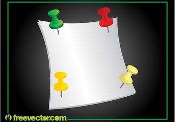 Note And Pins - vector gratuit #152195