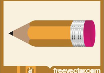 Pencil With Eraser - vector gratuit #152215