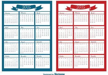 2015 Calendar - vector #152225 gratis