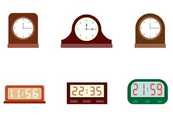 Free Vector Clocks - vector gratuit #152285