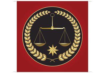 Justice in Balance - vector gratuit #152375