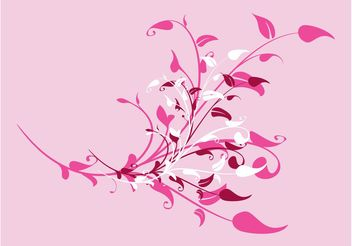 Pink Flowers Design - Free vector #152645