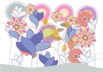 Colorful Flowers Background - vector gratuit #152685