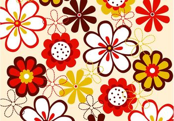 Vector Flowers Pattern - Free vector #152725