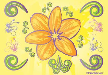 Fresh Flowers - Free vector #152765