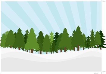 Pine Trees Landscape - Free vector #152865