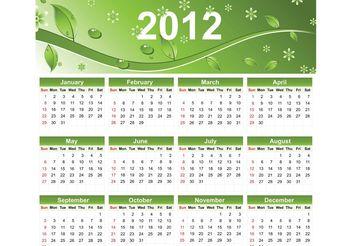 2012 Eco Green Free Vector Calendar - Free vector #152875