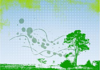 Grunge Landscape - Free vector #152985