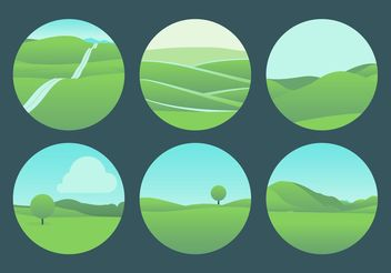 Beautiful Rolling Hills Landscape Vectors - бесплатный vector #152995