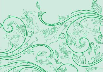 Green Flowers - vector #153005 gratis