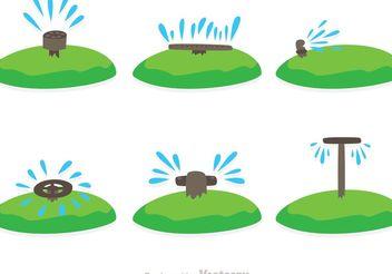 Water Sprinkler Vectors - Free vector #153035