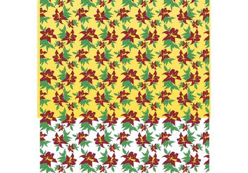Classic Flowers Pattern - Free vector #153065