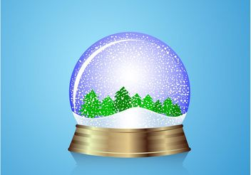 Snow Globe Forest - vector gratuit #153115
