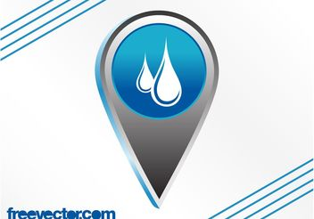 Water Icon Vector - Free vector #153135
