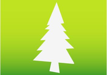 Christmas Tree Silhouette - Free vector #153245