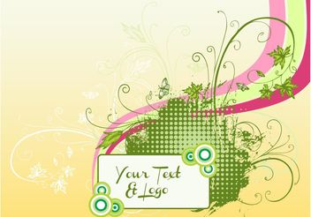 Nature Invitation Template - vector #153275 gratis