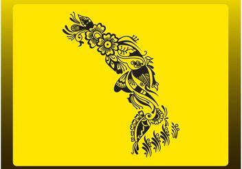 Tattoo With Flowers - бесплатный vector #153305