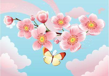 Sakura Flowers - бесплатный vector #153395
