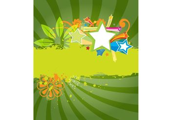 Green Poster Template - Free vector #153425