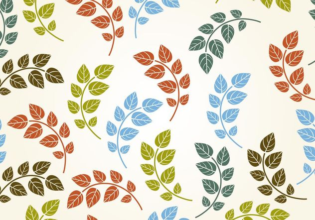 Seamless Leaf Background Vector - Free vector #153455