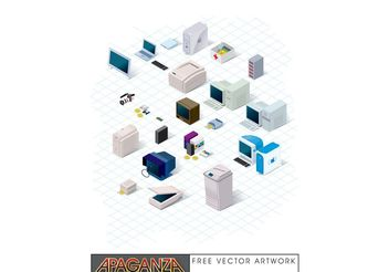 Nineties Technology Vector - vector gratuit #153495
