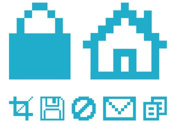 Pixelated Computer Icons - vector #153515 gratis
