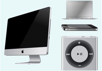 Apple Devices - vector gratuit #153555