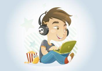 Computer Kid - vector gratuit #153655
