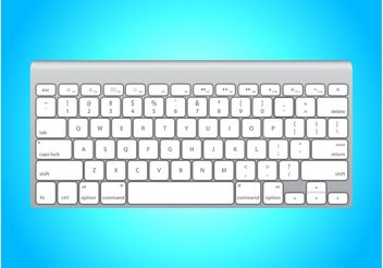 White Apple Keyboard - бесплатный vector #153755