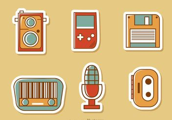 Retro Style Media Vector Pack 2 - Free vector #153875