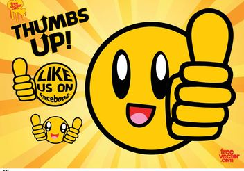 Thumbs Up Vector - Free vector #153925