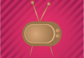 Retro TV - vector #154245 gratis