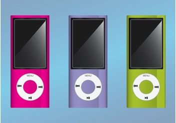 Colorful iPods - vector gratuit #154305