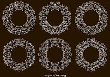 Victorian Circular Frames - бесплатный vector #154495