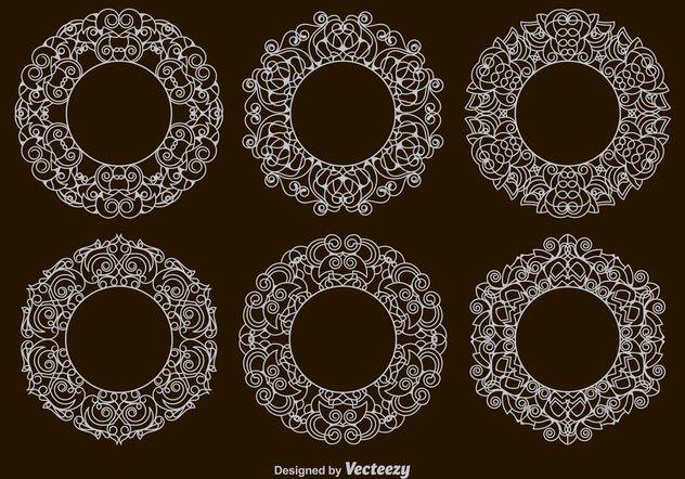 Victorian Circular Frames - Free vector #154495