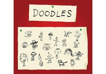 Children Art Doodles - бесплатный vector #154645