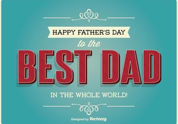 Typographic Father's Day Illustration - Kostenloses vector #154665