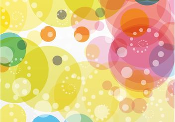 Colorful Circles Background Vector - Free vector #154775