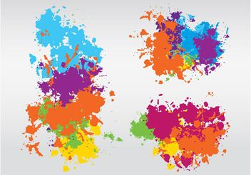 Colorful Splashes Design - vector gratuit #154815