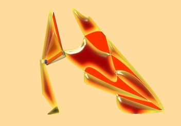 Abstract Vector Shoe - Kostenloses vector #154995