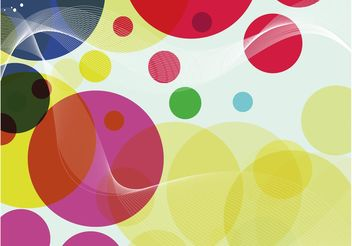 Colorful Circles Design - Free vector #155025