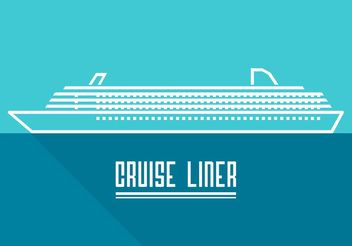 Free Line Cruise Liner Vector - Free vector #155105