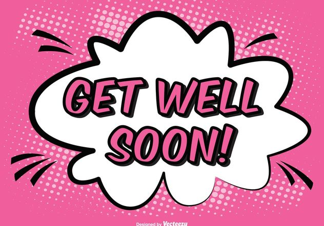 Comic Style Get Well Soon Illustration - бесплатный vector #155345