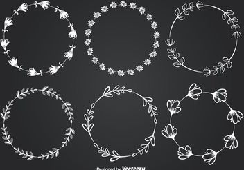 Chalkboard Style Floral Frames - Free vector #155365