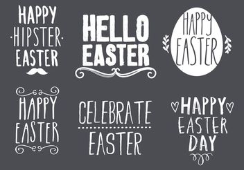 Easter Typography Design Set - vector gratuit #155385